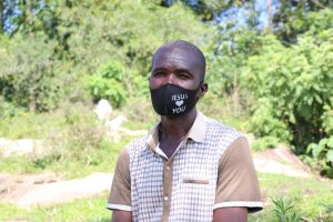 The Water Project:  Pastor Indeche With His Mask On