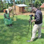 The Water Project: Shitoto Community, Abraham Spring -  Allan Filming Brendas Interview