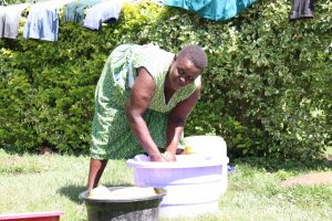 The Water Project:  We Found Brenda Washing Her Clothes