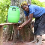 The Water Project: Luyeshe Community, Simwa Spring -  Making Use Of The Handwashing Station