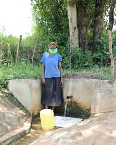 The Water Project:  Mrs Simwa At The Waterpoint