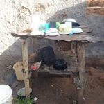 The Water Project: Isanjiro Community, Musambai Spring -  Dishrack