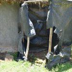 The Water Project: Shianda Commnity, Mukeya Spring -  Bathing Shelter Made Using Polythene Bags