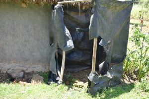 The Water Project:  Bathing Shelter Made Using Polythene Bags