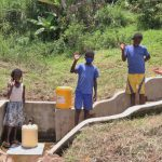 The Water Project: Ematetie Community, Weku Spring -  Children At Weku Spring