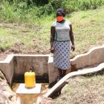 The Water Project: Ematetie Community, Weku Spring -  Doris At The Spring