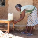 The Water Project: Ematetie Community, Weku Spring -  Handwashing