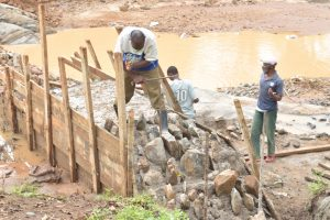 The Water Project:  Working On Dam Wing Walls