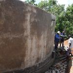 The Water Project: Kimuuni Secondary School -  Tank Walls Cure