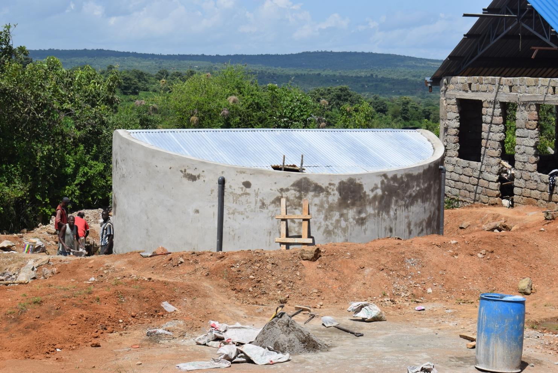 The Water Project : kenya20353-tank-wall-construction
