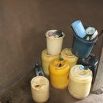 The Water Project: Kalenda A Community, Moro Spring -  Water Storage Containes