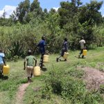 The Water Project: Luyeshe Community, Khausi Spring -  Heading Home With Water