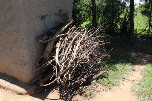 The Water Project:  Outside Firewood Storage