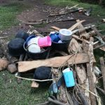 The Water Project: Shihome Community, Oloo Njinuli Spring -  Utensils And Firewood Drying