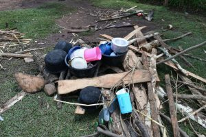 The Water Project:  Utensils And Firewood Drying