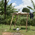 The Water Project: Shihome Community, Oloo Njinuli Spring -  Dishrack