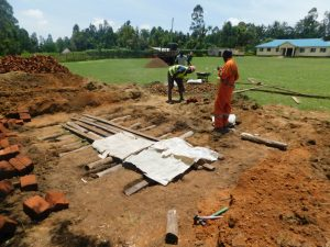 The Water Project:  Latrine Foundation Work