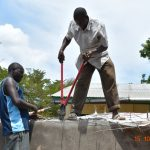 The Water Project: Makunga Secondary School -  Cutting Dome Wire