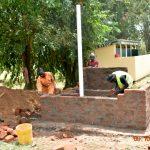 The Water Project: Makunga Secondary School -  Latrine Wall Masonry