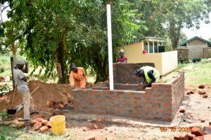 The Water Project:  Latrine Wall Masonry