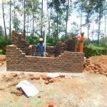 The Water Project: ACK St. Peter's Khabakaya Secondary School -  Latrine Wall Construction