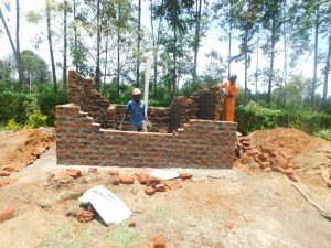 The Water Project:  Latrine Wall Construction