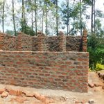 The Water Project: ACK St. Peter's Khabakaya Secondary School -  Latrine Walls Take Shape