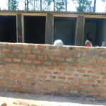 The Water Project: ACK St. Peter's Khabakaya Secondary School -  Cementing Latrine Walls