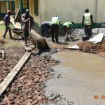 The Water Project: Makunga Secondary School -  Pouring Concrete