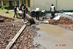 The Water Project:  Pouring Concrete