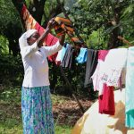 The Water Project: Shilakaya Community, Shanamwevo Spring -  Airing Clothes To Dry