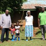 The Water Project: Shilakaya Community, Shanamwevo Spring -  Margaret With The Chairperson And Her Son