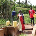 The Water Project: Emulakha Community, Alukoye Spring -  Physical Distancing At The Spring