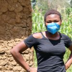 The Water Project: Emukangu Community, Okhaso Spring -  Ivy With Her Mask On