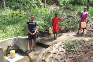 The Water Project:  Ivy At The Spring With Other Kids