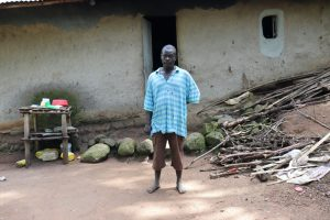 The Water Project:  Mr Indayi In Front Of His House