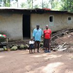 The Water Project: Eshiasuli Community, Eshiasuli Spring -  Silas With His Wife And Daughter At Home