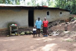 The Water Project:  Silas With His Wife And Daughter At Home