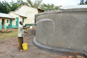 The Water Project:  Using Water From Tank For Curing