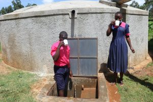 The Water Project:  Students Drinking Water At The Tank