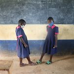 The Water Project: Jinjini Friends Primary School -  Practicing Alternative Greetings