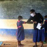 The Water Project: Jinjini Friends Primary School -  Teaching Alternative Greetings