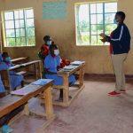 The Water Project: Mukoko Baptist Primary School -  Facilitator Jacklyne Conducting Training