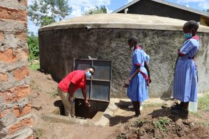 The Water Project:  Practical Sessin At The Tank Site