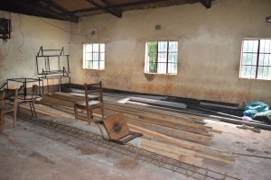 The Water Project:  Construction Materials Stored In A Classroom