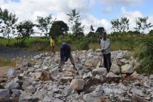 The Water Project:  Rocks Gathered By School Parents