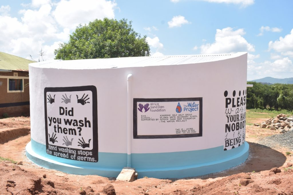 The Water Project : kenya20355-painted-tank