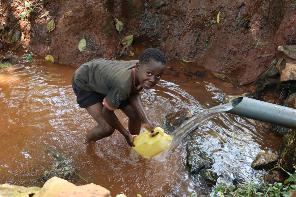 The Water Project : kenya21033-bravine-collecting-water