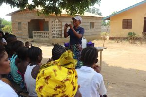 The Water Project:  Hygiene Facilitator Teaching About Proper Way Of Hand Washing