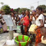 The Water Project: Lungi, New London, #10 Dankama Street -  Community Members Celebrating Safe Drinking Water